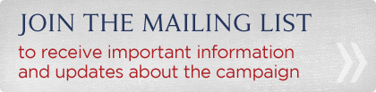 Join the mailing list to get important campaign updates!